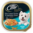 CESAR HOME DELIGHTS Slow Cooked Chicken  Vegetables Dinner Dog Food Trays 3.5
