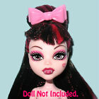 PINK HAIR COMB/BOW ACCESSORY~4 MONSTR HIGH DOLL:Draculaura/Cleo/Clawdeen/Frankie