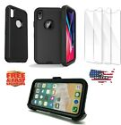 Shockproof Defender Full Body Case For Phone XR/X/XS Max Black Fits Otterbox