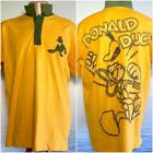 DONALD DUCK Disney Store Men's Polo Shirt XL South Arica Yellow Green RARE