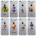 Marvel Avengers Superhero Pattern Clear Case Cover For iPhon
