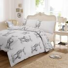 Traditional stag Christmas Print Duvet Quilt Cover Bedding Set  Pillowcases