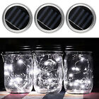 New LED Fairy Light Solar Mason Jar Lights Lid Warm White /White /Multicolor