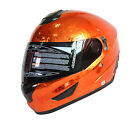 NENKI FULL FACE HELMET NK-852 CHROME ICED ORANGE WITH INNER SUN VISOR DOT