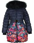 Lisa-Rella Girls' Quilted Down Coat in Floral Print, Sizes 6-16