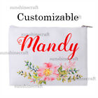 Custom canvas makeup personalized cosmetic bag wedding bridesmaid hen party gift