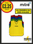 Mitre Football Pro Training Bib Junior/Youths/Mens/Senior Red Blue Yellow NEW!