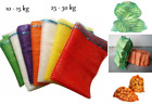 Net Sacks Waven Raschel Bags with Drawstring Mesh Vegetables Logs Kindling Wood!