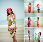 Women Sunflower Chiffon Travel Beach Dress Bikini Cover Up Swimwear Sarong Pareo