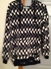 Vear Bradley Fleece Sweater Black and White Ladies Small