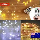 LED Battery Powered Copper Wire String Fairy Xmas Party Lights Warm White Au Se