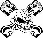 Skull Skeleton Piston Racing Car Truck Window Laptop Vinyl Decal Sticker