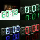 Modern Digital LED Wall Desk Table Clock 24 12-Hour Display Alarm Snooze US