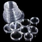 10pcs Coin Capsule Applied Clear Round Case Storage Ring Boxes Holder 25mm-40mm