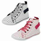 Spot On Girls Lace Up Ankle Boot