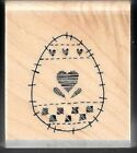 EASTER EGG HEART Patch PATTERN Stitch Quilt Sew STAMPIN' UP! 2006 RUBBER STAMP