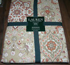 Ralph Lauren CHAMBERS MEDALLION TAN  Rust, Olive Green & White Tablecloths--NWT