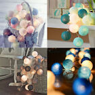 3M 20 LED Colorful Cotton Ball Lamps String Christmas Wedding Party Fairy Lights