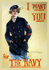 6773.I want you for Navy girl POSTER.Home room Decoration.Graphic art design