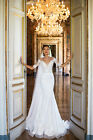 Sexy Wedding Dresses 2018 Sheer Neck Illusion Back Bridal Gowns Short Sleeves