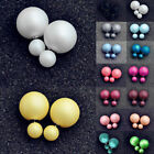NEW Elegant Lady Colorful Candy COLOR Double Sided Studs Disco Ball Earrings