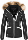 Navahoo Damen Winter Jacke Outdoor Winterjacke warm gefüttert Parka NEU B649