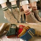 New Womens Cashmere Wool Thick Warm Socks Winter Fashion Striped Design 5 Colors