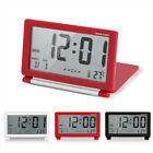 LCD Digital Foldable Travel Table Desk Electric Alarm Clock Temp Date Display BT