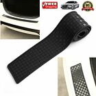 Black Car Rear Bumper Sill/Protector Plate Cover Guard Pad Moulding Trim OW