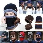 Knitted Hat Hot Winter Warm Womens Set Scarves Beanie Unisex And Scarf