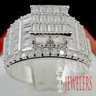 LADIES .925 STERLING SILVER WHITE GOLD TONE ENGAGEMENT ANNIVERSARY RING BAND 6~9
