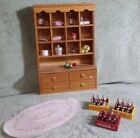 Dollhouse items Cubboard, Coca-Cola Bottles w/Case and Rug