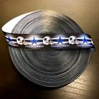 "7/8"" Dallas Cowboys Black Grosgrain Ribbon by the Continuous Yard (USA SELLER!)"