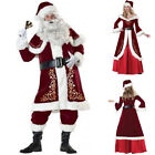 Santa Claus Father Christmas Xmas Clause Suit Mens Womens Fancy Dress Costume SL
