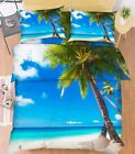 3D Nice Beach 18 Bed Pillowcases Quilt Duvet Cover Set Single Queen King Size AU