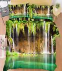3D Lake Streams Bed Pillowcases Quilt Duvet Cover Set Single Queen King Size AU