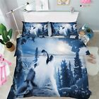 3D Forest Wolf 1 Bed Pillowcases Quilt Duvet Cover Set Single Queen King Size AU