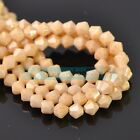 4mm 6mm 8mm Wholesale Coated Bicone Faceted Glass Loose Beads Jewelry Findings