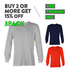 3 PACK AAA ALSTYLE 1304 MENS CASUAL LONG SLEEVE T SHIRT COTTON SHIRTS PLAIN TEE image