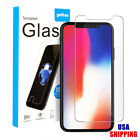 For iPhone X 8 8 Plus Tempered Glass Screen Protector Film TPU Back Case Kit