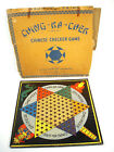 VTG 1938 Gotham Pressed Steel Corp Chinese Checker Board In Box Ching Ka Chek