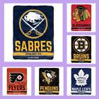 NHL Licensed Breakaway Micro Raschel Fleece Afghan Throw Blanket - Choose Team $24.95 USD on eBay