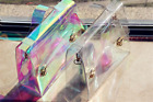 Girl's Transparent Laser Bag Lady Jelly Tote for Women Purses Handbags