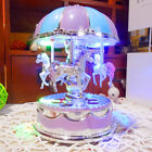 LED Light Merry-Go-Round Music Box Carousel Christmas Birthday Kids Gift Toy