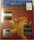 Game of Thrones Season 3 Blu-ray Lannister Limited Edition Sigil Cover - NEW