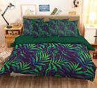 3D Green Leaf 29 Bed Pillowcases Quilt Duvet Cover Set Single Queen King Size AU
