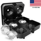 4 change Ice Maker Diamond Shape Tray Mold Cube Cocktails Silicone For Whiskey US
