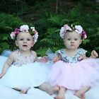 tutu baby dresses - USA Kids Baby Girls Floral Dress Party Gown Formal Dresses Lace Tutu Sundress