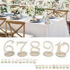 US 1-10/11-20 Wooden Table Numbers Set with Base Birthday Wedding Party Decor