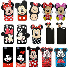 3D Cartoon Minnie Mickey Soft Silicone Phone Case Cover For iPhone 5 6 7 8 Plus